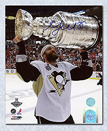 Maxime Talbot Pittsburgh Penguins Autographed 2009 Stanley Cup 8x10 Photo cc9239a9b