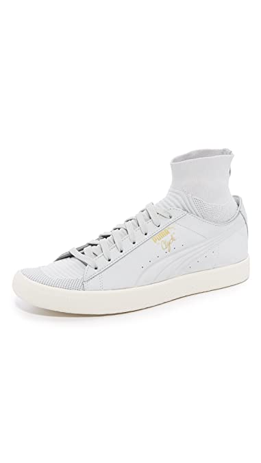 hot sale online dbbce efca9 Amazon.com   PUMA Men s Clyde Sock Select Mid-Top Leather Fashion Sneaker    Fashion Sneakers