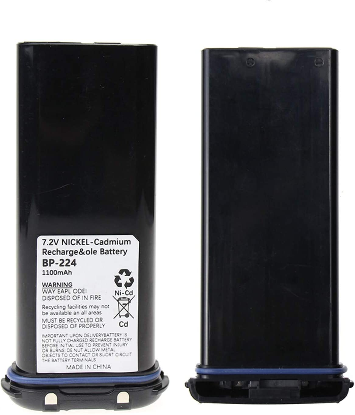 1100mAh Battery Replacement for Icom IC-IC-M2A IC-IC-M31 IC-M21 IC-M32 BP-224 BP-224H