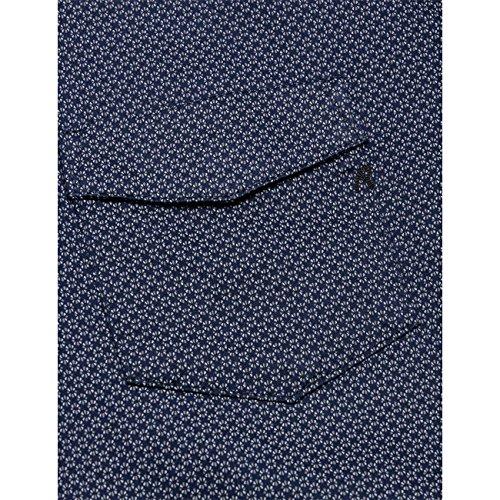 Replay tissé imprimé pour femme avec poche en bleu marine