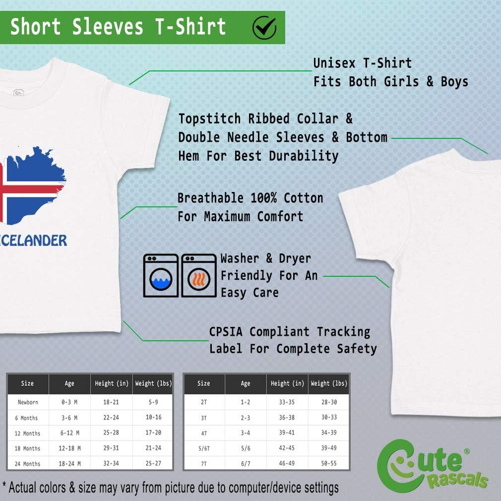 Custom Baby /& Toddler T-Shirt Little Icelander Cotton Boy Girl Clothes