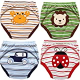 MOM & BAB Potty Training Pants/Padded Underwear for Toddlers | Washable & Resuable | Soft Cotton | Comfortable Fit for Your Baby (Small)