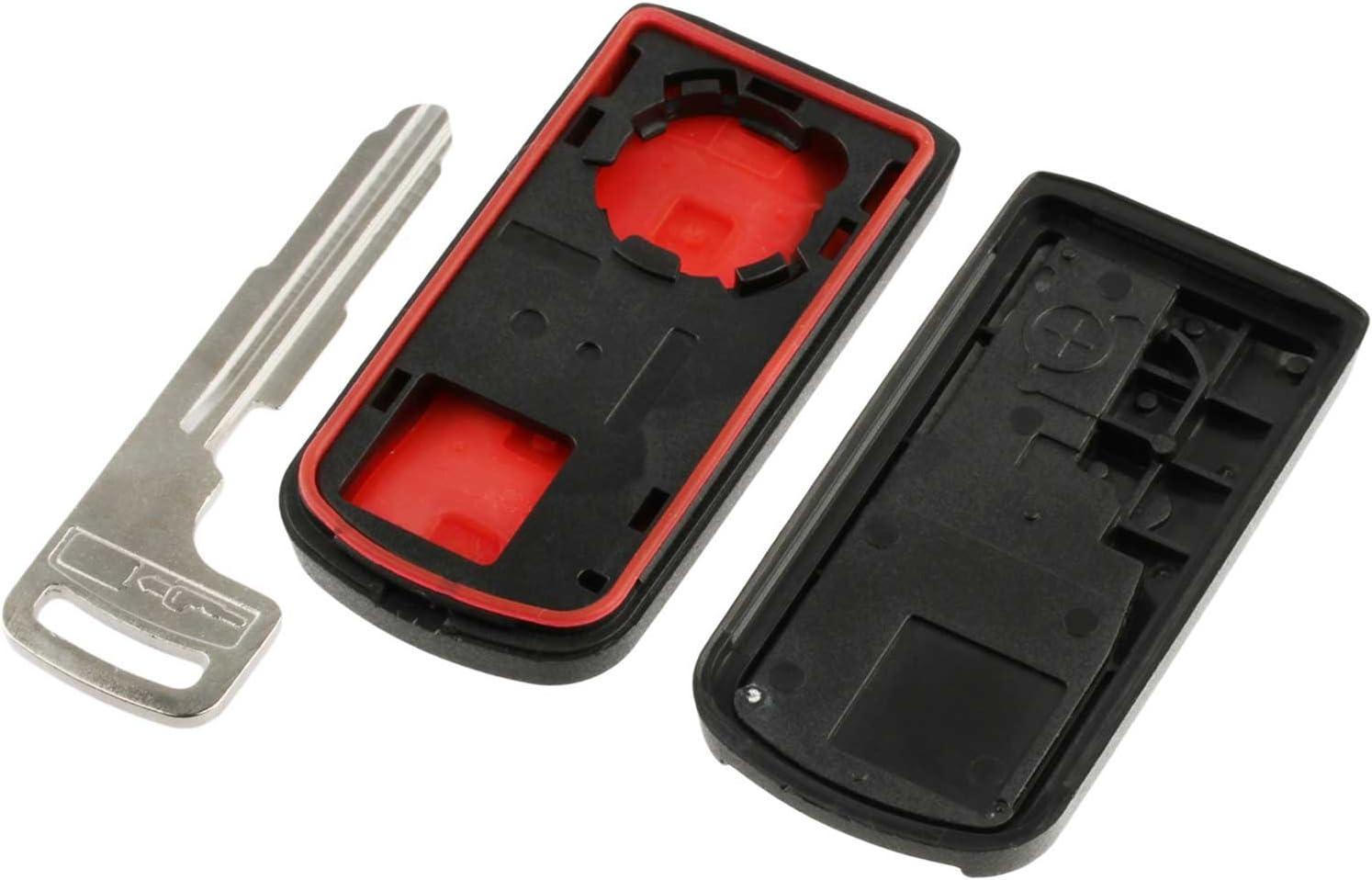 2008-2017 Outlander Key Fob Keyless Entry Smart Remote Shell Case /& Pad fits Mitsubishi 2008-2016 Lancer