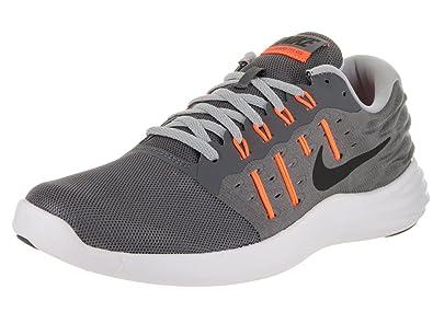 Carries New Mens Athletic Shoes - Nike Lunarstelos Dark Grey/Black/Wolf Grey/Total Orange