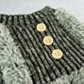 Fitwarm Fuzzy Fleece Thermal Pet Clothes for Dog Pajamas PJS Coat Jumpsuit