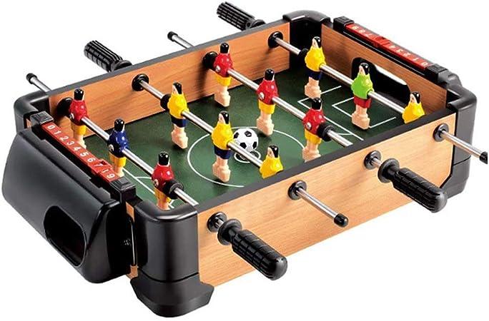 Estilo de Tabla 4 Filas Ocio Juego Adulto Futbolín Juego de Mesa de Madera Baby Foot Infantil para Niños Fútbolista Deporte Patada de Mesa Mesa de Fútbol Futbolín Mini: Amazon.es: Hogar