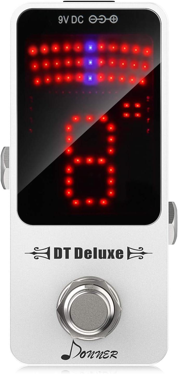 Afinador de pedal de guitarra Donner DT Deluxe, precisión ± 1 Cent, True Bypass