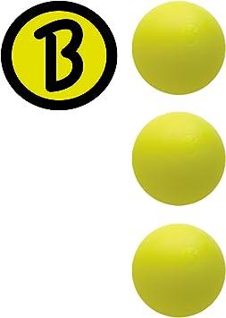 Bärenherz Magic Original - Bola de Futbolín de Torneo Profesional Color Amarillo - 3 Unidades: Amazon.es: Juguetes y juegos