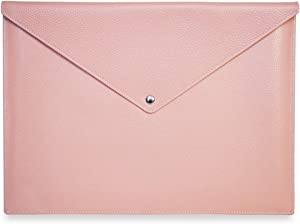 """Real Full Grain Leather Laptop Case/Sleeve Bag for New 13"""" inch MacBook Pro Retina (2016-2019), New (2018-2019) MacBook Air 13"""", iPad Pro12.9, Microsoft Surface Pro 12.9"""" Pink (13"""")"""