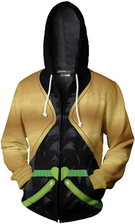 JoJos Bizarre Adventure Jotaro Kujo Hooded Sweater 3D Printed Kujo Jotaro Zipper Coat Jacket Hoodie