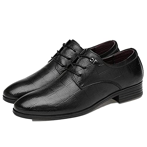 Zapatos Oxford Hombres Negocios Negros Cordones Zapatos De ...