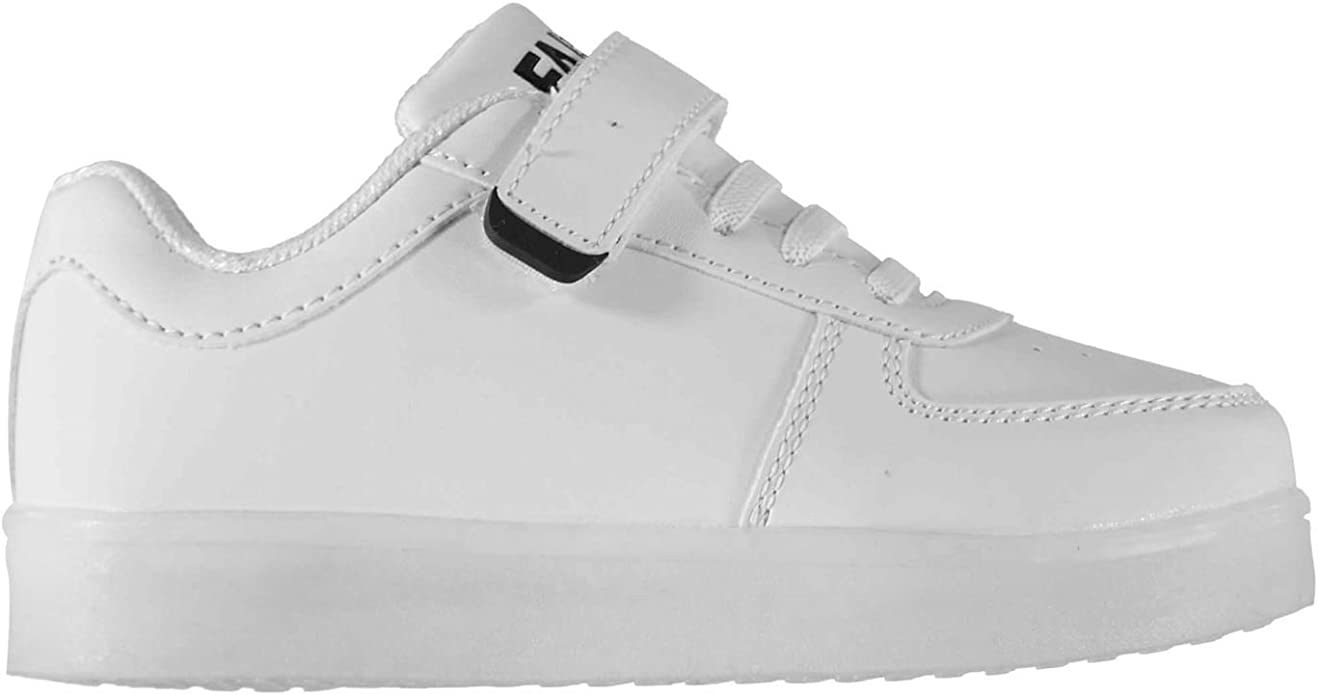 Fabric Kids LED Trainers Low White UK