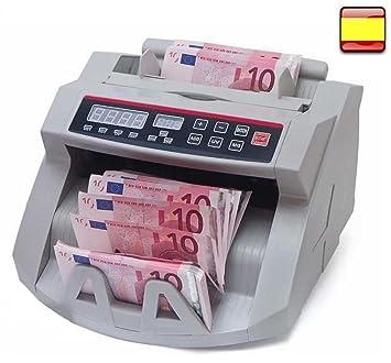 Contador Detector de billetes falsos automatico lcd para Billetes nuevos: Amazon.es: Oficina y papelería