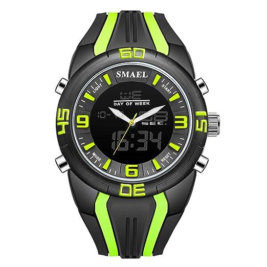 VEHOME Hombre SMAEL Relojes para Hombre Reloj Deportivo de Camuflaje de Doble Hora Reloj LED Digital Relojes relojero Reloj reloje hombresRelojes de Pulsera ...