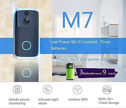 Wireless Wifi 1080P Smart Door Bell IR Security Camera Video Remote Intercom New