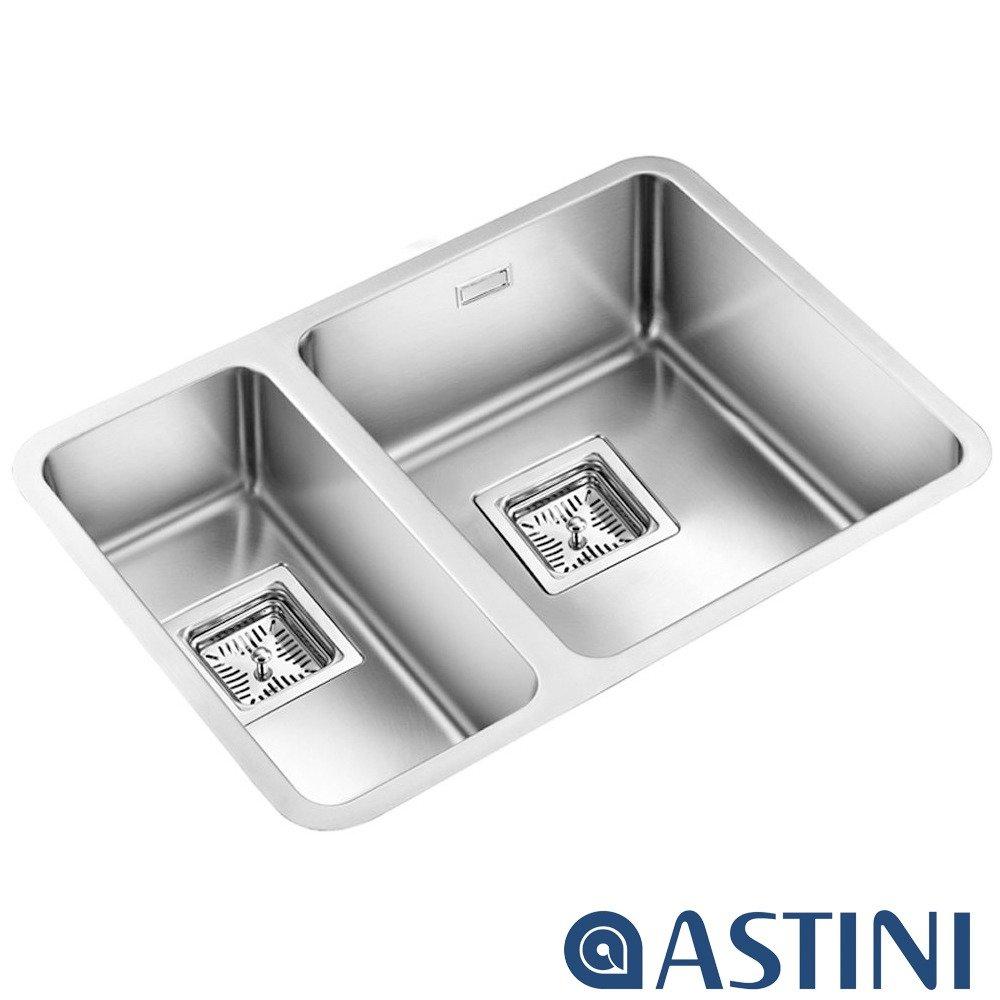 Astini Vico 1.5 Bowl Silk Stainless Steel Undermount Kitchen Sink ...