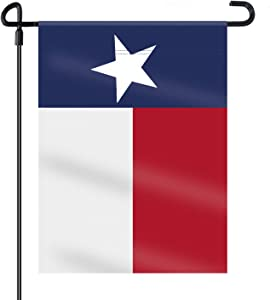 HOOSUN Double Sided Texa Flag Texas State Decorative Garden Flags Decorative Texas Yard Flags - 18'' x 12.5'' Texas Flag Indoor and Outdoor Texas Flags Outdoor Texas Star Yard Decor