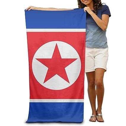 Toallas de playa con la bandera de Corea del Norte de Yissalvavunaz, 100% poliéster, ...