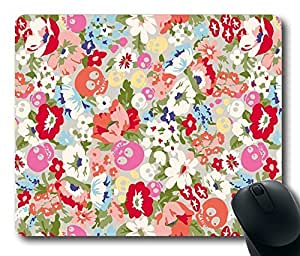 """Cartoon Floral Pattern Rectangle Oblong Mouse Pad Design Mousepad in 220mm*180mm*3mm (9""""*7"""") -81927 by icecream design"""