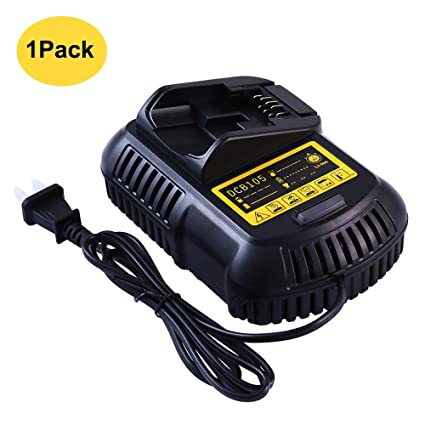 Replace for Dewalt 12V and 20V MAX Lithium-ion Battery Charger DCB101 DCB115 DCB107 DCB105