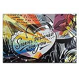Artist Lane 04DM - P2639 Coupon Stories Canvas Ilustraciones de Dan Monteavaro, 40 por 60 por 1.5 pulgadas