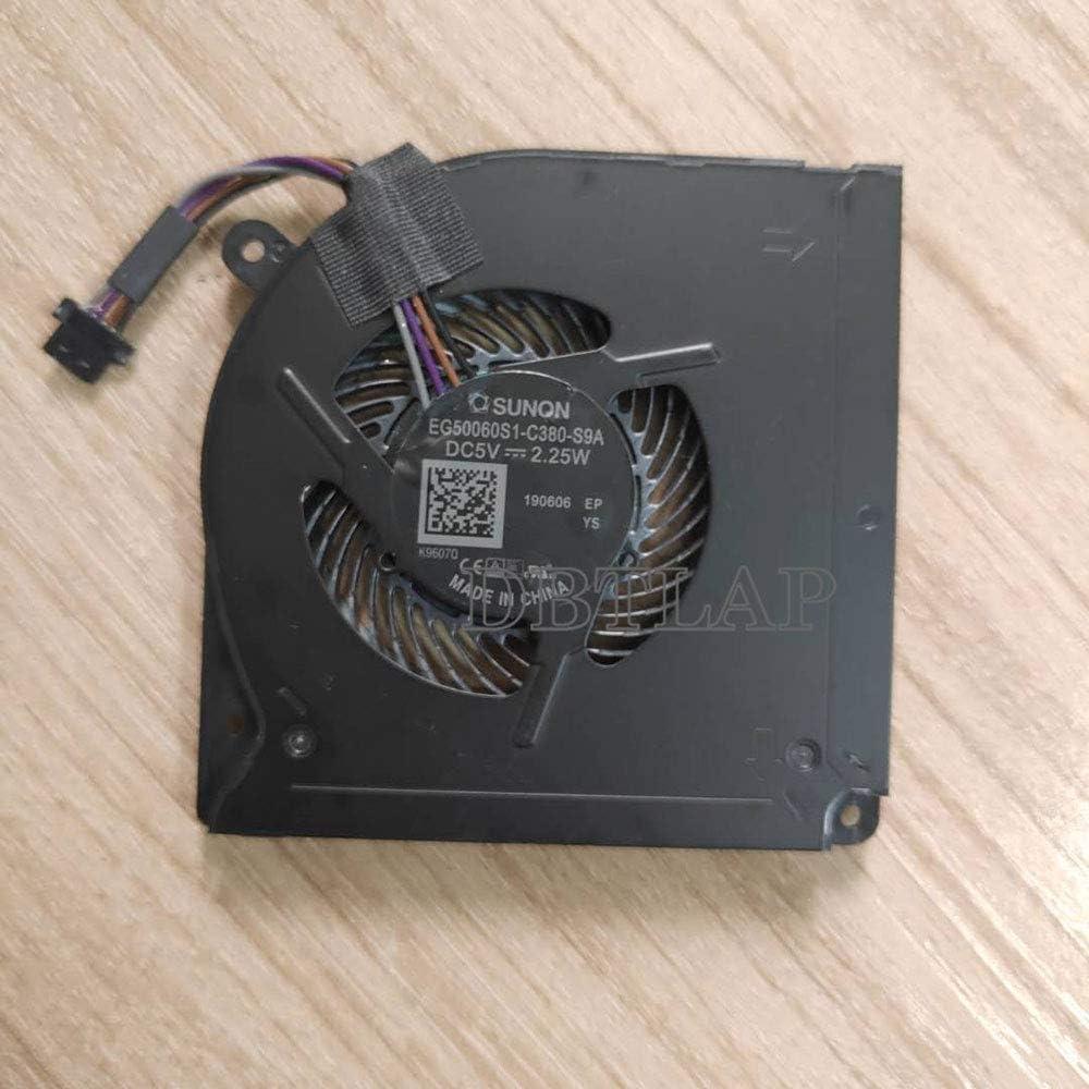 DBTLAP Laptop CPU Ventilador Compatible para Schenker XMG Neo 15 EG50060S1-C380-S9A CPU THER7GK5C6-1411 GK5CN6Z Cooler