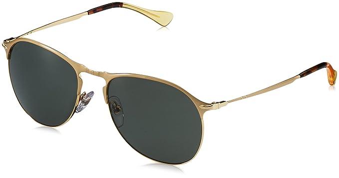 8aaebd4214 Persol Men s Polarized PO7649S-106958-53 Gold Aviator Sunglasses ...