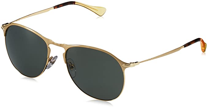 5529ab4e2e Image Unavailable. Image not available for. Color  Persol Mens Sunglasses  Gold Green Metal - Polarized ...