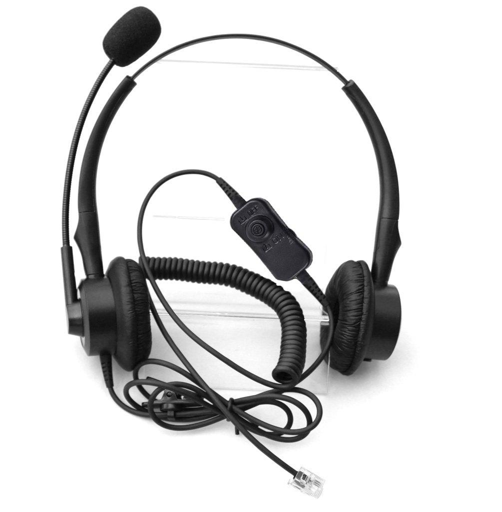 Comdio CH201VA5 Corded Headset Headphones Ear Phone Volume Mute ...