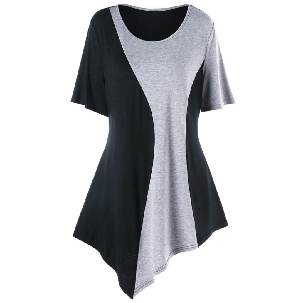 Black, XL Women Ladies Ladies Lace Up Short Sleeved Blouse,Mamum Women Casual Solid Patchwork Lace Rose T-Shirt Tops Blouse