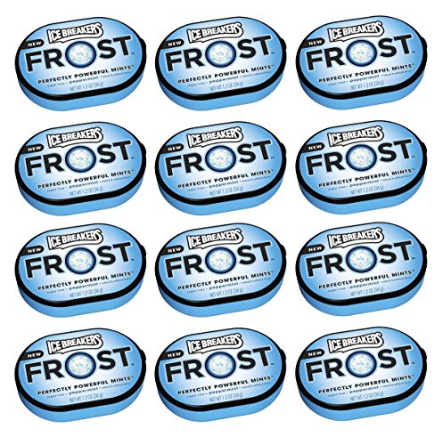 Ice Breakers Frost Peppermint Mints Tin 12ct - Tj