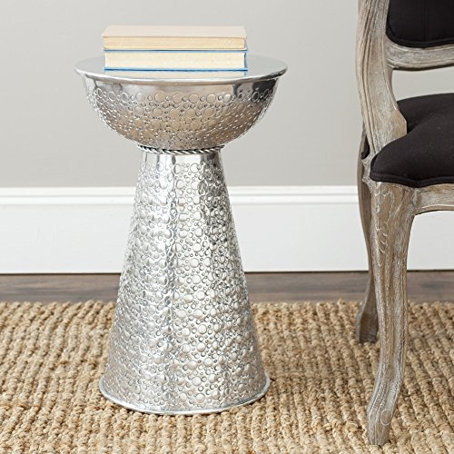 Accent Table in Silver by Safavieh
