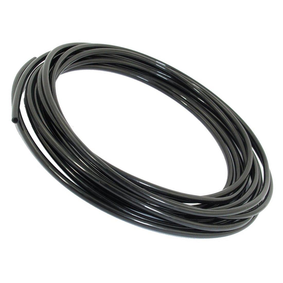 SNOWINSPRING 4mmx2,5mm Flexible schwarz Polyurethan Luft PU pneumatisch Schlauch 5M 16ft