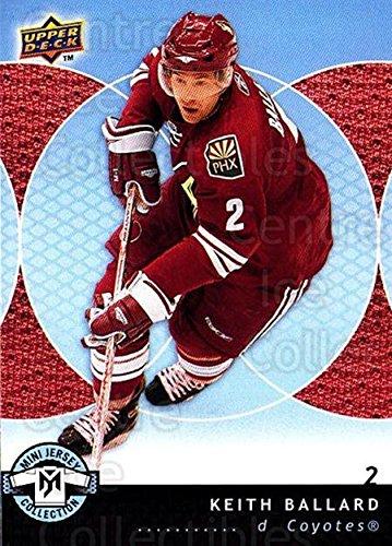 (CI) Keith Ballard Hockey Card 2007-08 UD Mini Jersey Collection 75 Keith Ballard