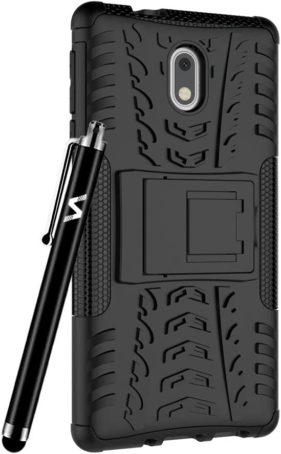 Case For Nokia 3 Phone Hybrid Rugged Armor Shockproof Kickstand Back Protective Cover For Nokia 3 Red