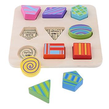 Juguete Kesoto Bloque De Madera Montessori Apilamiento Geometría 0wv8mnN