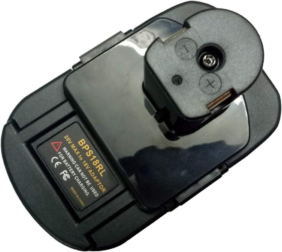 BPS18RL Battery Adapter for Black&Decker for Porter Cable for Stanley 20V Lithium Battery for Ryobi 18V P108 Battery
