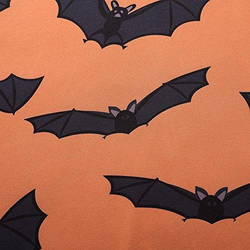 PLUS Halloween Size L Party Sleeve AMZ 3 Orange Casual 5XL Dresses Swing Plus 4 Women 1aqEfw7d