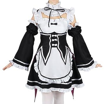 CoolChange Vestido de Camarera de Ram & Rem de Re: Zara Kara Hajimeru Isekai Seikatsu