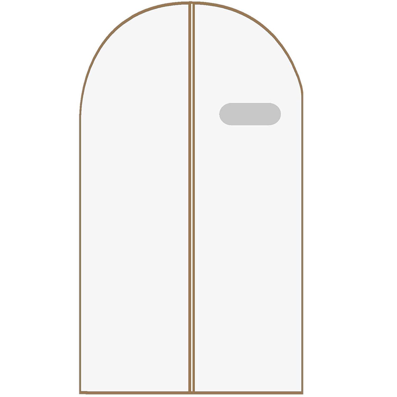 Traje y vestido largo Maison /& White Paquete de 6 cubiertas de ropa transpirable Moho del polvo y tela resistente a la polilla que cuelga bolsas con cremallera