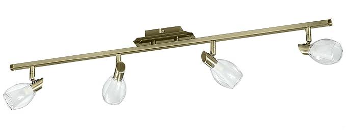 Lámpara de techo de 4 focos G9 4x40w: Amazon.es: Iluminación