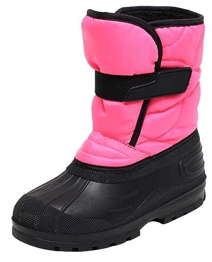 4f9c880e871607 Zapato Mädchen Snowboots Schneestiefel Winterstiefel Stiefel für Kinder  Jugendliche Gr. 31-37 PINK SCHWARZ