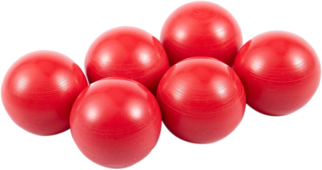 WOVELOT Juego de 6 pernos roscados M6 de 25 mm de di/ámetro con bola de pl/ástico y mango giratorio color rojo