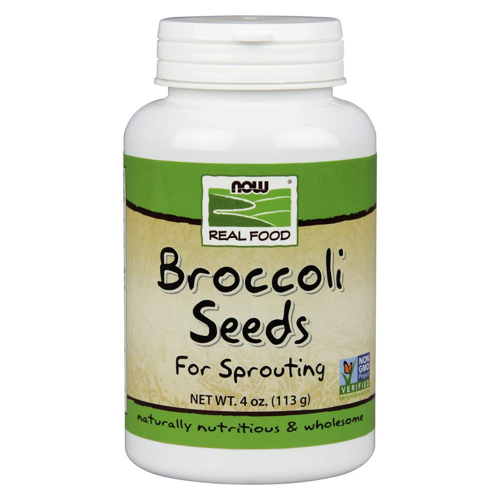 NOW Foods, Broccoli Seeds For Sprouting, Certified Non-GMO, 4-Ounce