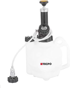 Tecpo 300120 Bremsen Entlüftungsgerät 4 Liter 1 Liter Auffangflasche Bremsenentlüfter Set Bremsflüssigkeit Wechsel Mit E20 Adapter Euro Schnellkupplung Baumarkt