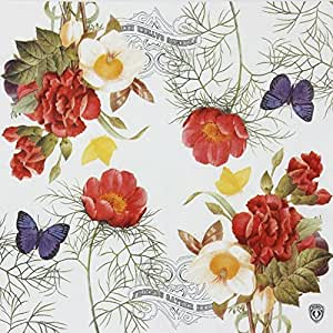"""SMILEE Paper Napkins,Luncheon Party Napkins Serviettes 2-Ply 13"""" x 13""""20 Ct (Fascinating Flowers)"""