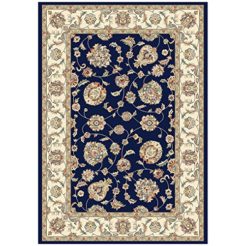 """Dynamic Rugs AN24573653464 Ancient Garden Collection Runner Rug, 2' by 3'11"""", Blue/Ivory from Dynamic Rugs"""