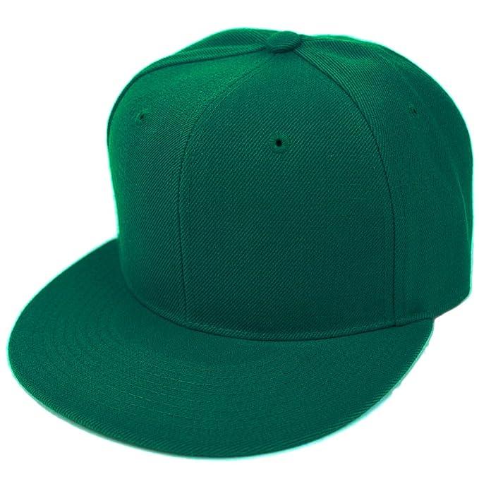 OUTLETISSIMO® Cappello Verde con Visiera Piatta Cappellino Cotone Snapback  Rapper fd7b2fbfaa89