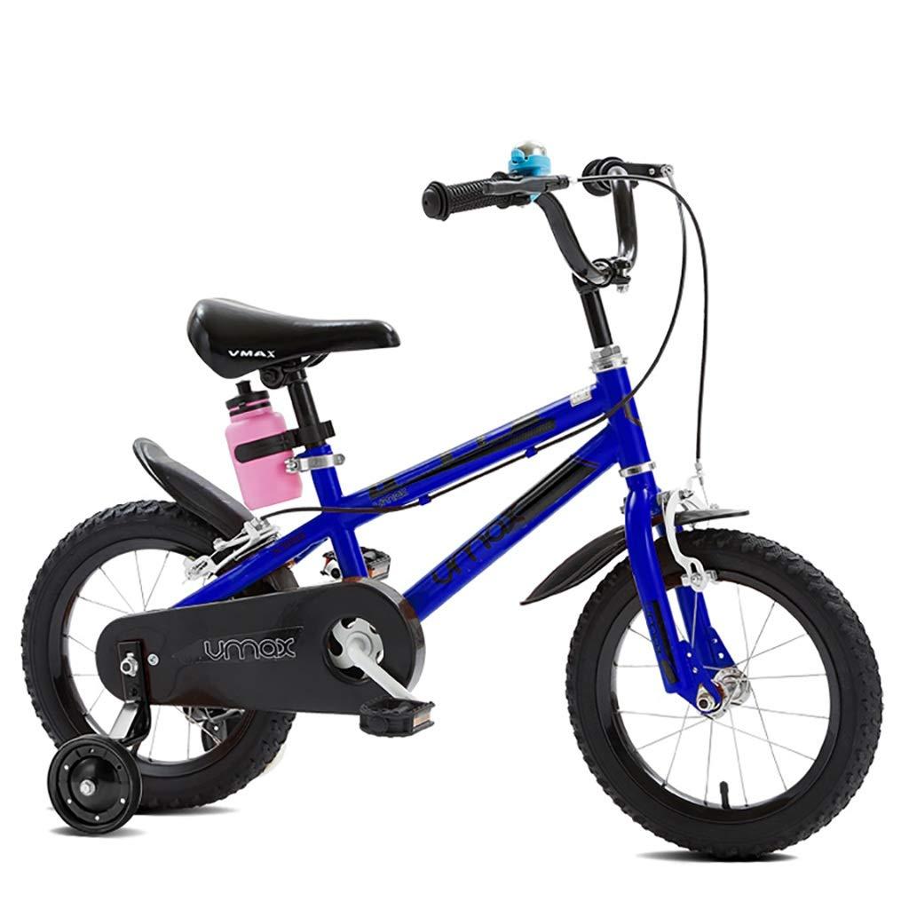 丈夫 子供の自転車自転車3-4-6-8歳の男の子と女の子の手ブレーキ、制御の安全性 (色 : 青, サイズ さいず : 18inch) 18inch 青 B07RKQM4WJ