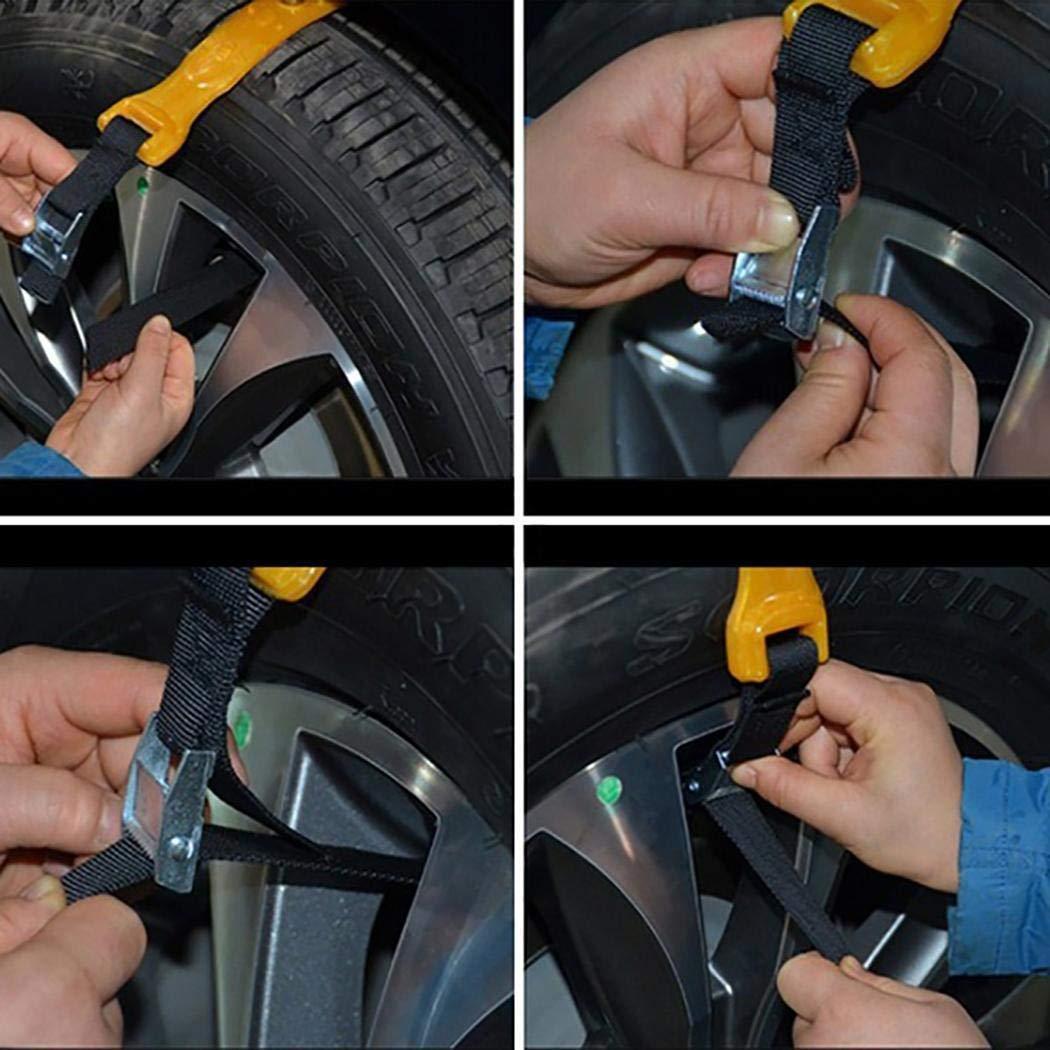 fnemo 1PCS Durable Antideslizante Coche Antideslizante Neum/ático Cintur/ón Neum/ático Cadenas de Nieve Accesorios para autom/óviles Asistencia en Carretera
